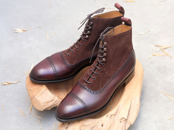 Edward Green Shannon IX in Dark Burgundy & Mink Suede