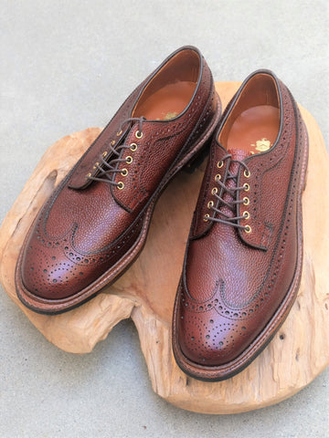 Alden Longwing Blucher (LWB) in Brown Scotch Grain