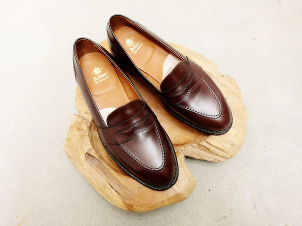 Alden Full Strap Loafer in Brown Calf