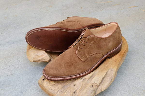 Alden Unlined Plain Toe Blucher Flex Welt 'Dover' in Snuff Suede