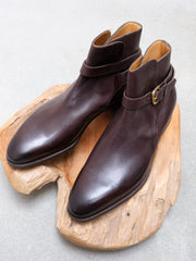 Edward Green Lambourn Jodhpur Boots in Dark Brown Utah