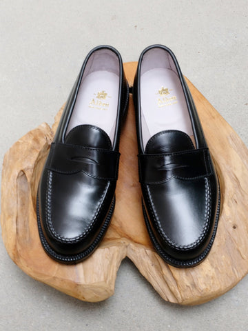 Alden Leisure Handsewn (LHS) Penny Loafer in Black Calf