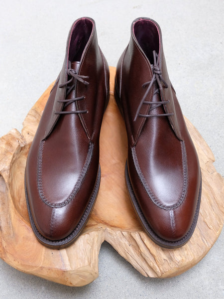 Edward Green Halifax Chukka in Brandy Pin Grain Calf