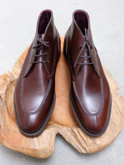 Edward Green Halifax Chukka in Mahogany Pin Grain Calf