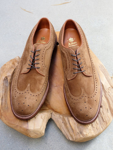 Alden Longwing Blucher (LWB) in Snuff Suede