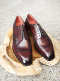 Edward Green Cowes in Burgundy Antique