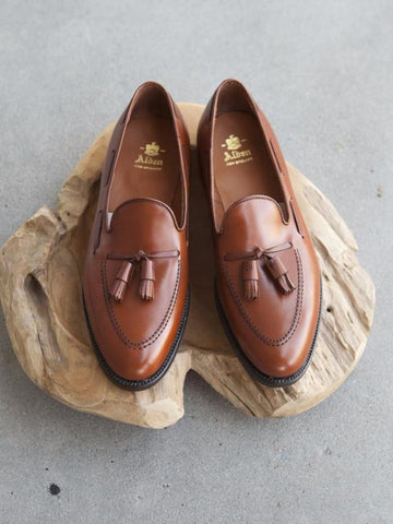 Alden Tassel Loafer in Chestnut Calf