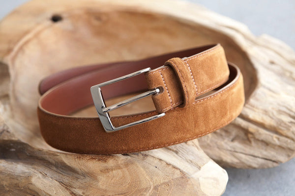 Alden Belt in Snuff Suede