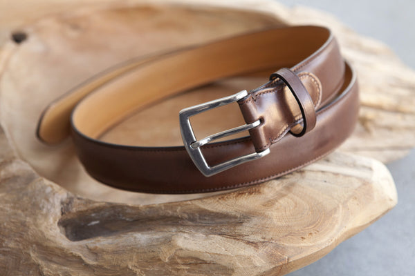 Edward Green Belt in Dark Oak Calf