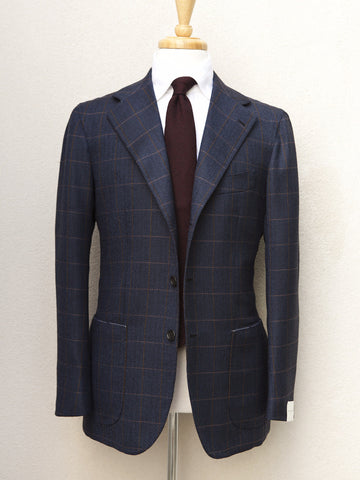 Orazio Luciano Windowpane Herringbone Jacket in Navy