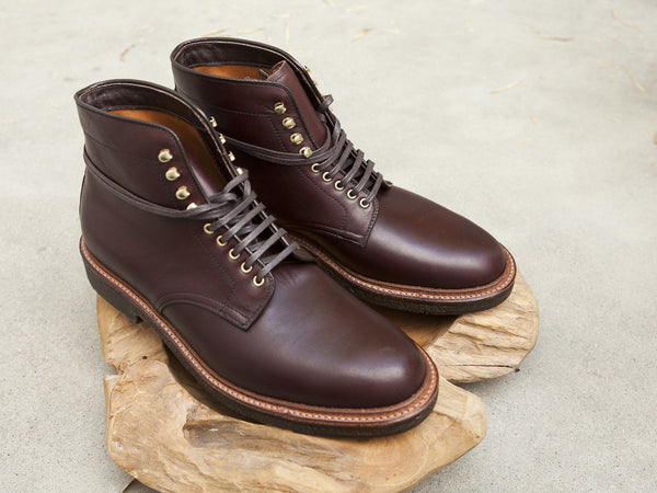 Alden Plain Toe Boots in Brown Pegasus Calf