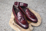 Carmina Shoemaker Belt in Burgundy Calf