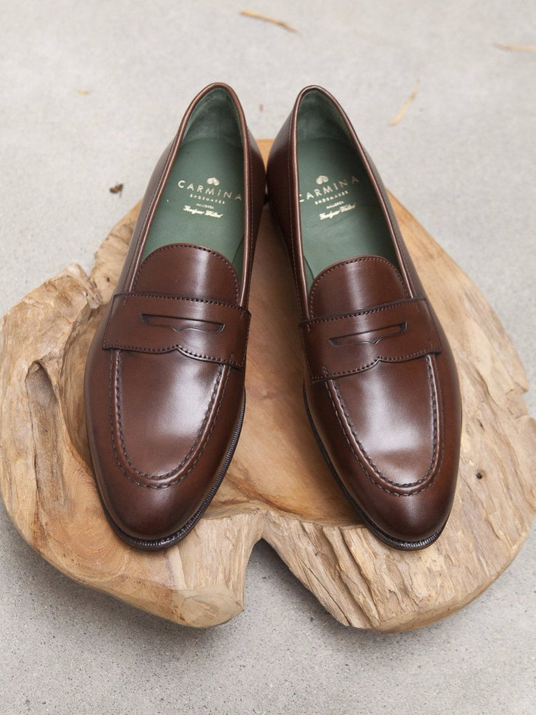 Carmina Shoemaker Penny Loafer in Brown Calf – Gentlemens ...