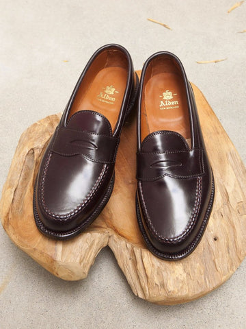 Alden LHS Penny Loafer in Color #8 Shell Cordovan