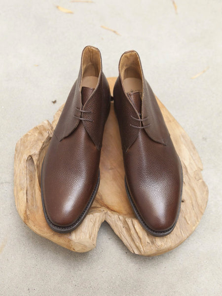 Bow-Tie Shoes Harvey Chukka in Brown Scotchgrain