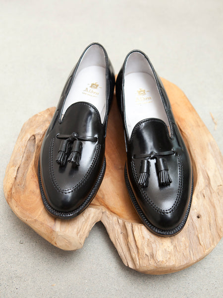 Alden Tassel Loafer in Black Shell Cordovan