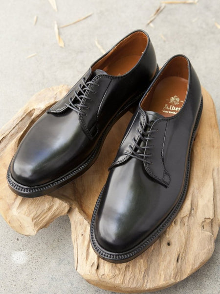 Alden Plain Toe Blucher (PTB) in Black Shell Cordovan