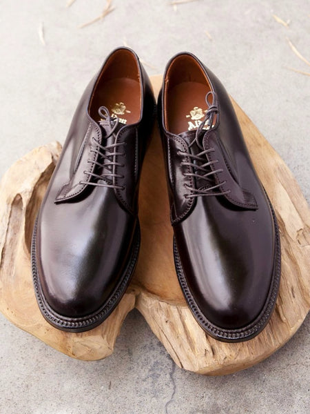 Alden Plain Toe Blucher (PTB) in Color #8 Shell Cordovan