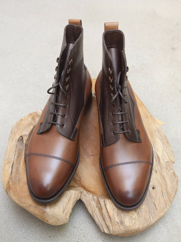 Edward Green Galway in Dark Burnt Pine & Walnut Country Calf