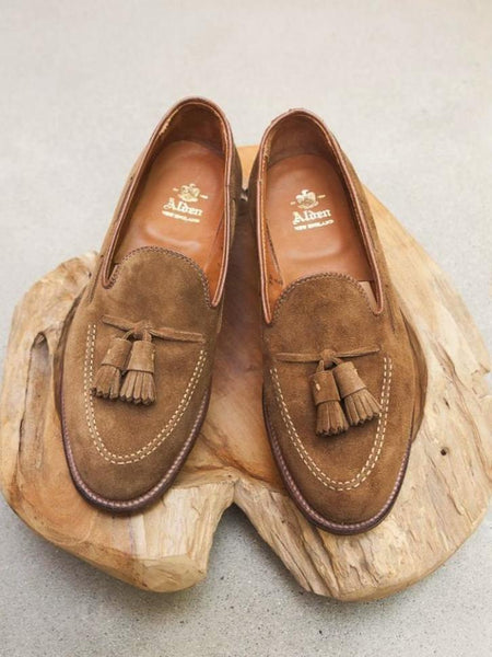 Alden Tassel Loafer in Snuff Suede