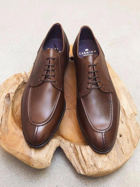 Carmina Shoemaker NST in Brown Scotchgrain