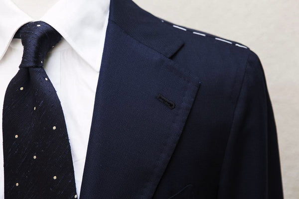 Orazio Luciano Hopsack Jacket in Navy (Ariston Napoli)