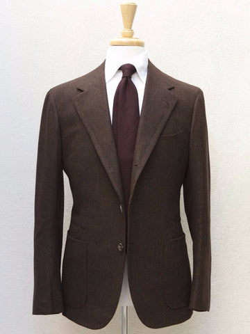 B&Tailor Sport Coat in Brown Herringbone Tweed