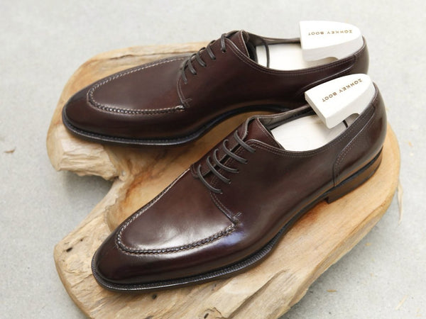 Zonkey Boot Split Toe Blucher in Mahogany Calf
