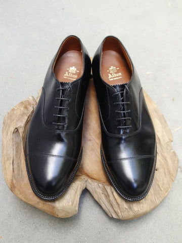 Alden Captoe Oxford in Black Calf