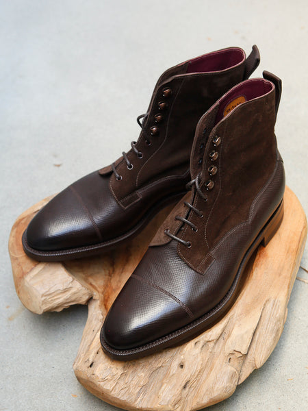 Edward Green Galway in Dark Brown Utah & Mocha Suede