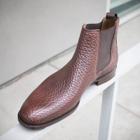 Zonkey Boot Chelsea Boots in Dark Brown Shrunken Buffalo