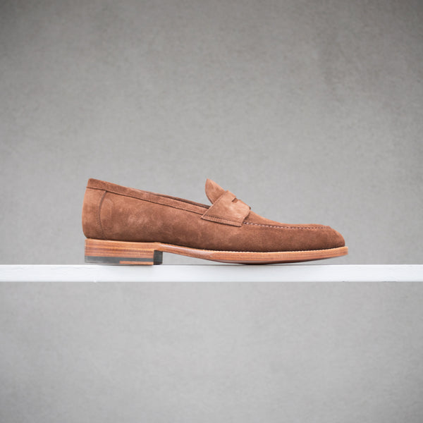 Zonkey Boot Penny Loafer in Brown Suede