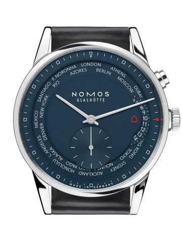NOMOS Zurich Worldtimer Midnight Blue (Ref. 807)