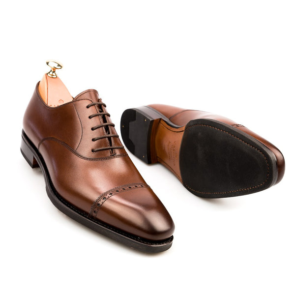Carmina Shoemaker Quarter Brogue in Brown Calf