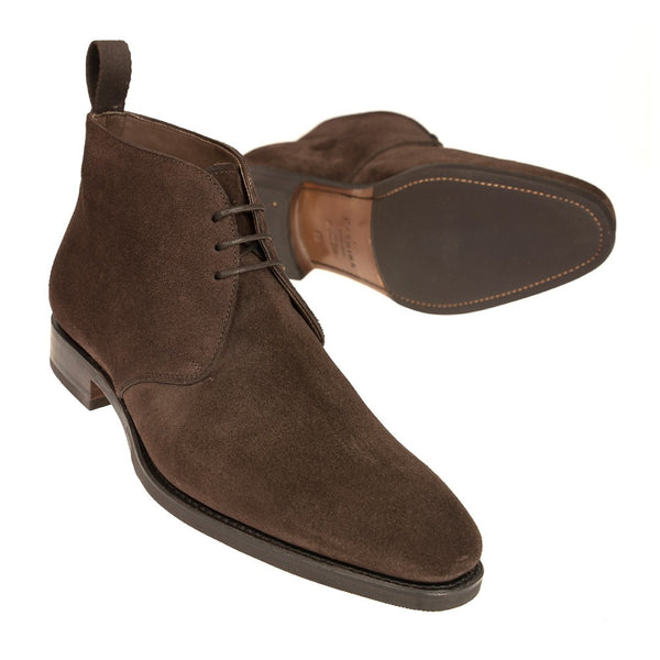 Carmina Shoemaker Chukka Boots in Chocolate Suede