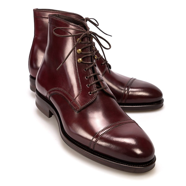 Carmina Shoemaker Jumper Boots in Burgundy Shell Cordovan