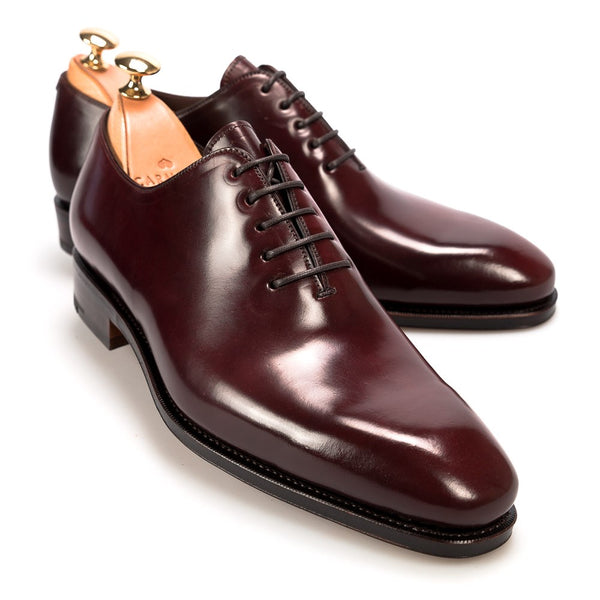 Carmina Shoemaker Wholecut Oxford in Burgundy Shell Cordovan