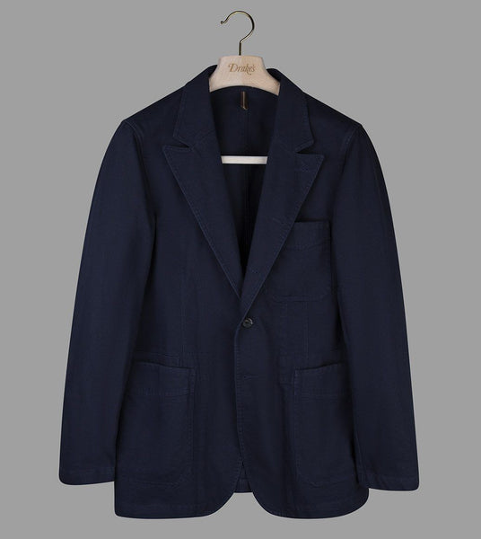 Drake's Navy French Cotton Drill Games Blazer Mk. II