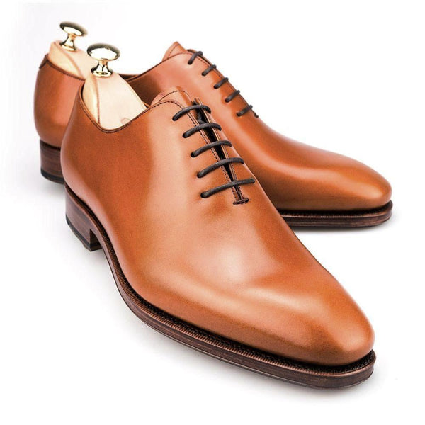 Carmina Shoemaker Wholecut Oxford in Tan Calf