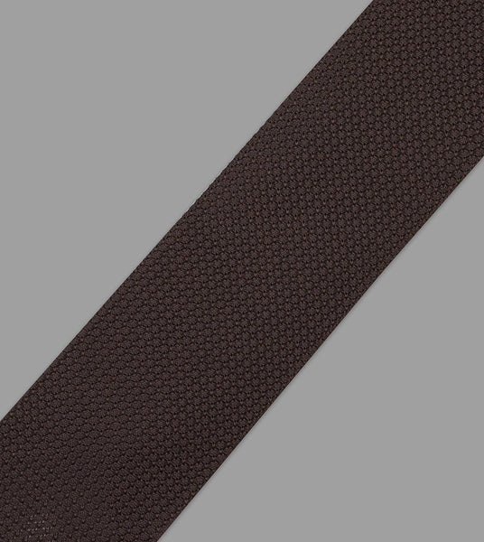 Drake's Brown Handrolled Large Knot Grenadine Tie