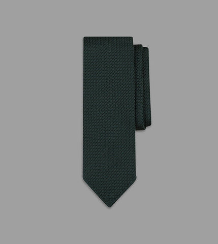 Drake's Green Handrolled Large Knot Grenadine Tie
