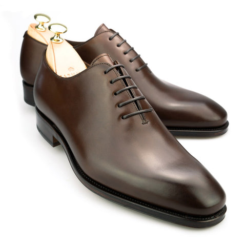 Carmina Shoemaker Wholecut Oxford in Dark Brown Calf