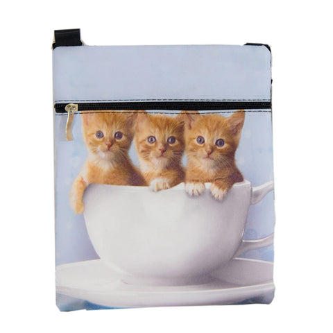Kittens in a Bowl - small purse