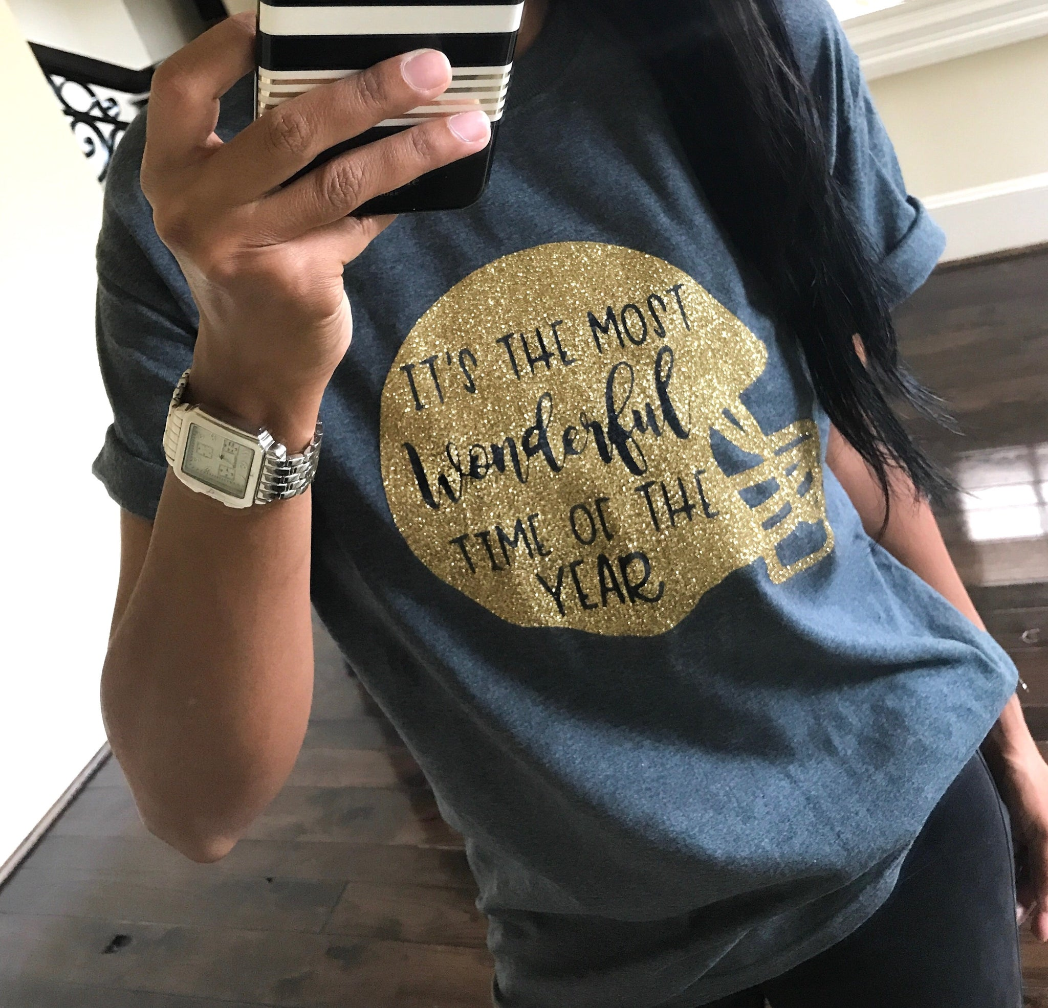 IT'S THE MOST WONDERFUL GOLD GLITTER TEE