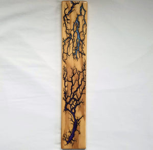 "Captured Lightning Wall Hanger (Resin Inlay, 20 x 3.5"")"