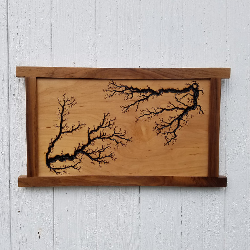 Maple Fractal, Walnut Frame