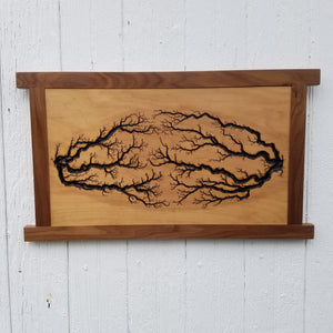 Maple Fractal, Walnut Frame (2)