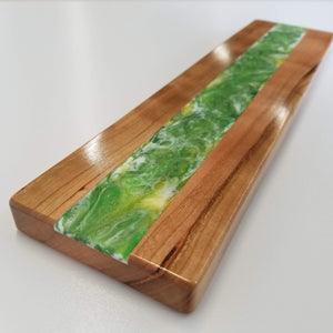"TKL Cherry Resin Hybrid Wrist Rest (14"" , Green/Gold inlay)"