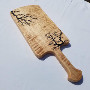"Curly Maple Serving Board ""Snackscaliber"""