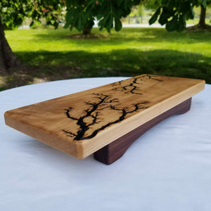 Maple and Walnut Serving Board